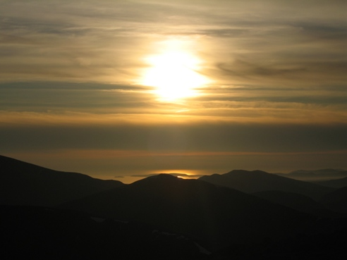 Sunset from the Carneddau.