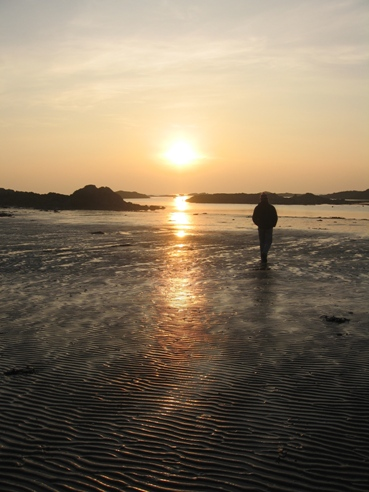 The sunset from Rhosneigr.