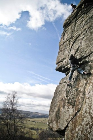 Paul seconding Chequers Buttress