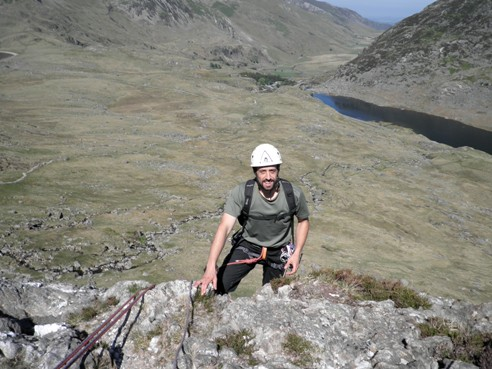 Huw topping out on Marble Slab.