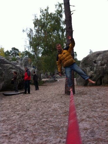 A spot of slacklining when my arms were begging me to stop.