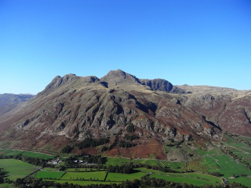The Langdale Pikes from Lingmoor.