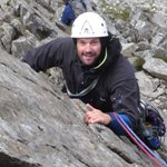 Adam on his rock climbing and mountaineering course.