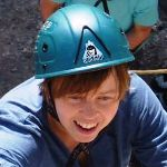 Agnieszka on her rock climbing course.