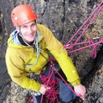 Matthias on his rock climbing course.