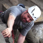 Rik on his rock climbing course.