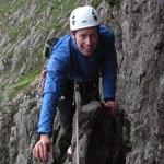Robin on his rock climbing course.