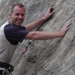Thomas on his rock climbing course.